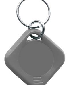 Badge porte d'immeuble en gris